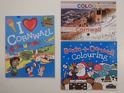 Cornwall Colouring Book for Children or Adults (Choice of 3)