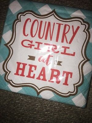 """Country Girl At Heart.."" Cocktail Bar- Pack of 20 - Funny Drinking Accessories"