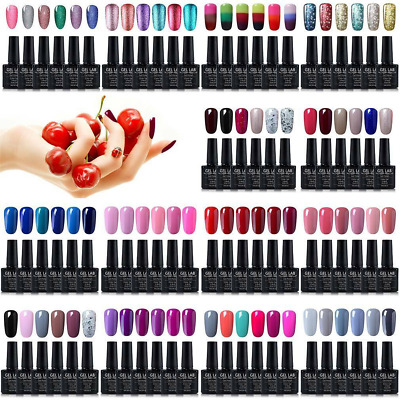 Gel Lab/Blue Velvet UK Stock 6 Colors Set UV LED Gel Nail Polish Top Base Coat