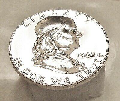 1962  Franklin   Gem   Proof   Blazing  White  Mirrored  Surfaces    #308  15