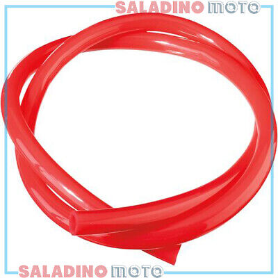 "Tubo Benzina Carburante Rosso Moose Racing Ø 3/16"" - 1Mt 07060247"