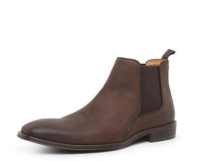 7512ea7307ce NEW Colorado C-Xander Mens Leather Chelsea Boots Dark Brown Size UK 6/ US