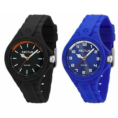 Orologio SECTOR STEELTOUCH Silicone Nero Blu SMALL 34mm Sub 100mt Unisex