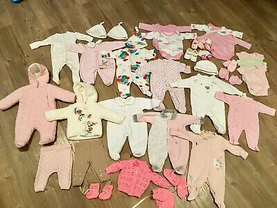 Huge Baby Girls Clothing Bundle Newborn to 10LB