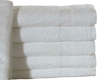 12 Bath Towels 22X44 White 100% Cotton 6 Lbs Prem Brand For Hotel Towel
