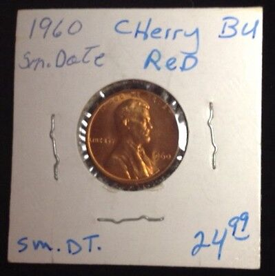 1960 Cherry Red Small Date Lincoln Memorial Cent