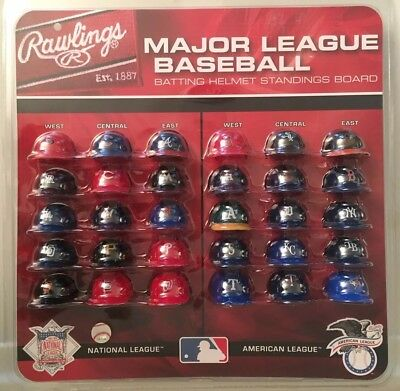 Mlb Official 1 5 Mini Baseball Batting Helmet Standings Board