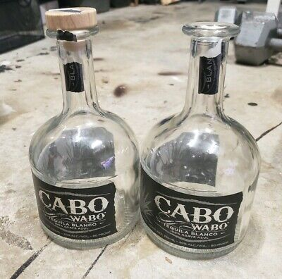 2 empty 750mL Bottle, Cabo Wabo