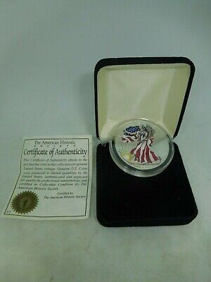 1999 US Silver Painted American 1oz Eagle Uncirculated
