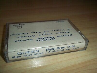 QUEEN Sheer Heart Attack / A Night at the Opera PARLOPHONE 1993 CASSETTE PROMO