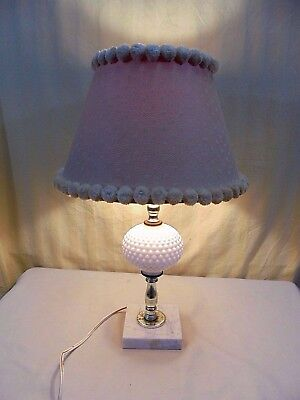 Milk Glass Electric Lamp Solid Marble