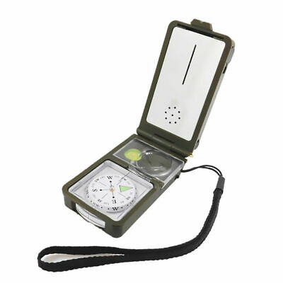 10 in 1 Multifunction Outdoor Survival Camping Hiking LED Compass Safe Tool Kit