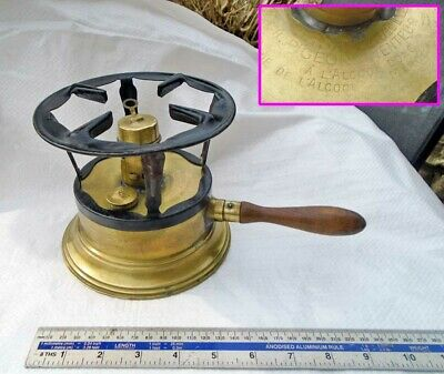 Vintage French 'Le Sauveur' Small No:2 Size Brass Spirit Stove& Trivet by PIGEON