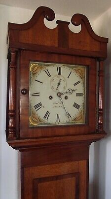 Antique long case Clock 8 Day by MILES good time/striking  Mahogany 1790-1820