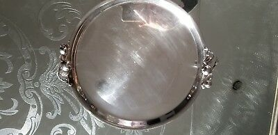 Wilcox Silver plate platter with Apple handles International Silver Co. 2571