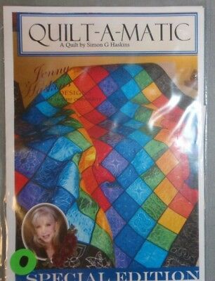 Jenny & Simon Haskins Designs QUILT-A-MATIC Quilt CD New