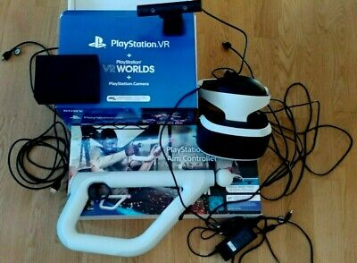 wie NEU Playstation VR V2 CUH-ZVR2 Bundle inkl Camera und  Aim Controller PS4