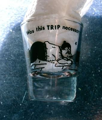 """Vintage Comical Shot Glass, """"Was This Trip Necessary"""" Bowling Theme"""