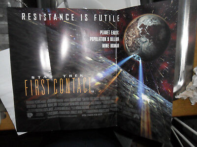 Star Trek Poster Resistance Is Futile First Contact Borg Movie Poster 1St Contac