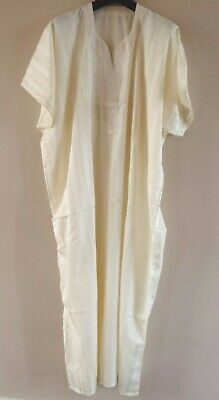Genuine Moroccan  Men's Djellaba  Kaftan / Robe / Thobe  CREAM