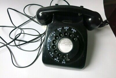 Black BT Telephone with bell ringer and number dial. Used. Working.