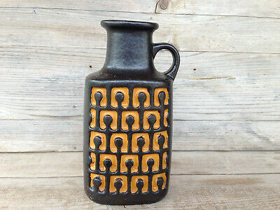 VEB HALDENSLEBEN Vase / Midcentury Vintage West Germany Pottery / sign 4091 8 cm