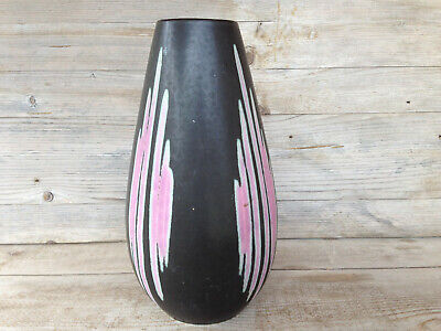 Ü-KERAMIK Vase / Midcentury Vintage West Germany Pottery / sign 455 size 25 cm