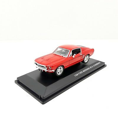 1/43	Coche Car Ford Mustang Gt 2+2 Fastback Rojo Red Signatures Series