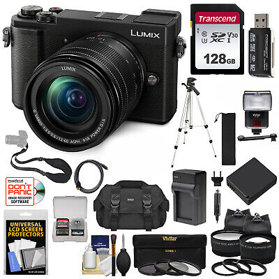Panasonic Lumix DC-GX9 4K Wi-Fi Digital Camera & 12-60mm Lens (Black) Bundle