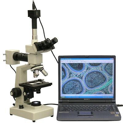 AmScope 40X-2000X Two Light Metallurgical Microscope + 1.3MP Digital Camera