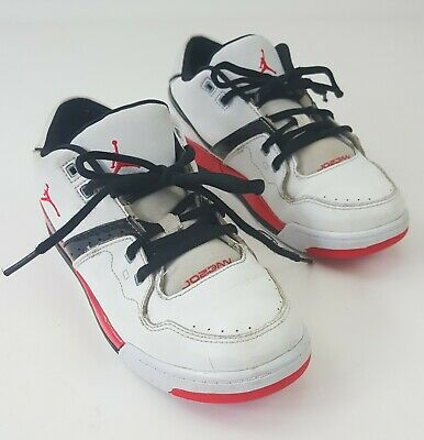 591d9b674ae9b0 JORDAN FLIGHT 23 PS 317822-116 RETRO BOYS WHITE BLACK RED Size 3Y