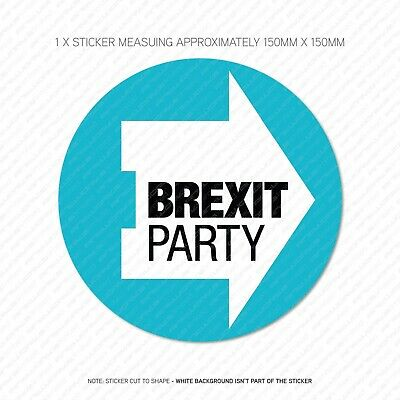 1 x The Brexit Party Stickers - Leave Means Leave EU -150mm x 150mm -  SKU5717