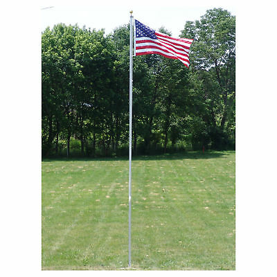 20 FT.VALLEY FORGE FLAGPOLE KIT W/ 3'x5' U.S. FLAG & 3'x5' POW-MIA FLAG (NEW)