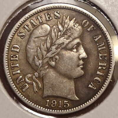 1915-S Barber Dime, Extremely Fine, Better Date & Grade    0223-07