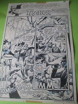 DC WEIRD WAR TALES #54 original comic art TITLE PAGE  - THE TRAITOR - July 1977