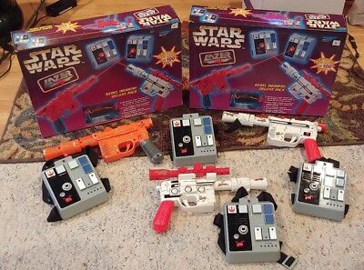 Star Wars Lazer Tag Rebel Infantry Deluxe Pack Guns Targets Tested Work Cosplay