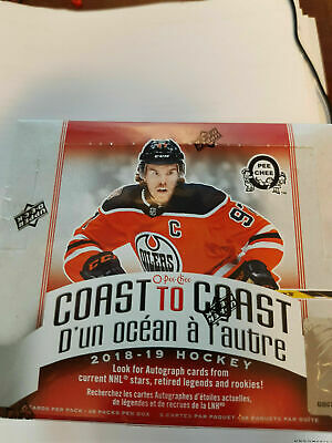18-19 Canadian Tire Opc Coast To Coast Sealed Box 48 Packs Canada Only