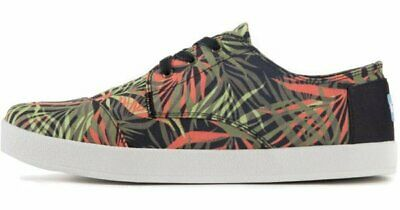ade5a128c6c TOMS Men s PASEO Palm Print TROPICAL Canvas Sneakers SHOES Orange 10.5 NEW