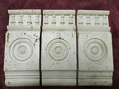 3 Victorian Bulls-eye Door - Window Corner Molding Blocks with Columns