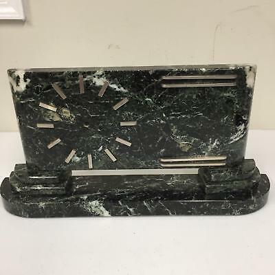 1930s Marble Marbled Vintage Desk Art Deco Missing Clock Hands