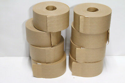 Cobra 8 Rolls  Reinforced Gummed Paper Tape 3''/ 70mm x 375'.  #480