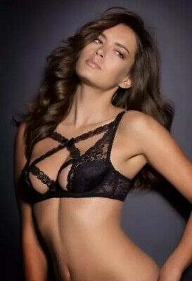 e42f6de936 NWT AGENT PROVOCATEUR CHIKI Black Bra 36E Lace Unique SEXY HOT GORGEOUS!
