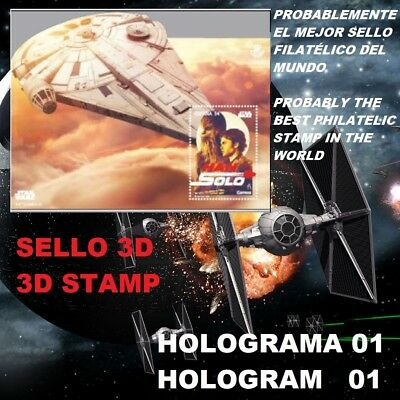 Star Wars 3D Stamp Spain 2018 Han Solo Sello Filatélico 2018 Guerra De Galaxias