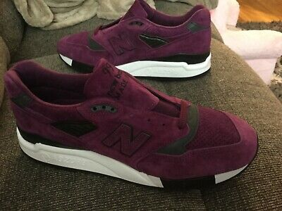 cheaper 5cc63 8c598 M998CM New Balance 998 Made in USA Classic Shoes Purple Black Men s size  10.5