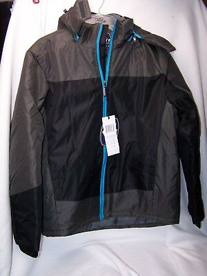 1b812b90a CLIMATE CONCEPTS WOMENS Color Block Fleece Lined Hooded Jacket COAT Small