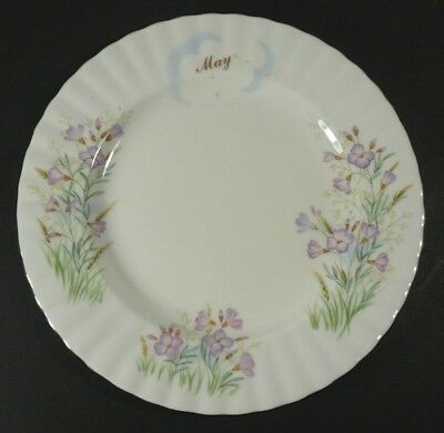 "Royal Albert Bone China Wild Flower of the Month 8"" Plate May Lady's Smock"