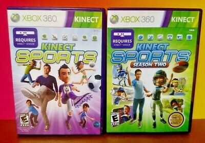 Kinect Sports Season One + Two  -  XBOX 360 Games Rare Lot Requires Kinect Bar