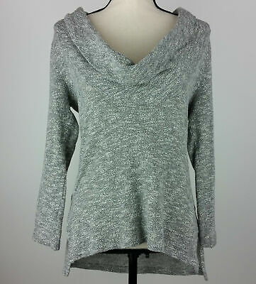 Panties Soft Surroundings Medium Gray Linen Wrap Around Knit Sweater Criss Cross Cropped For Sale
