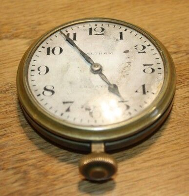 1926 Large Waltham 8 Day Brass car clock