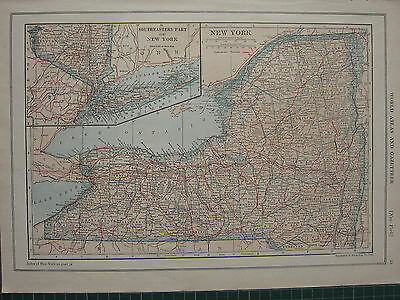 1926 Map ~ New York State Inset South-Western ~ Long Island Brooklyn